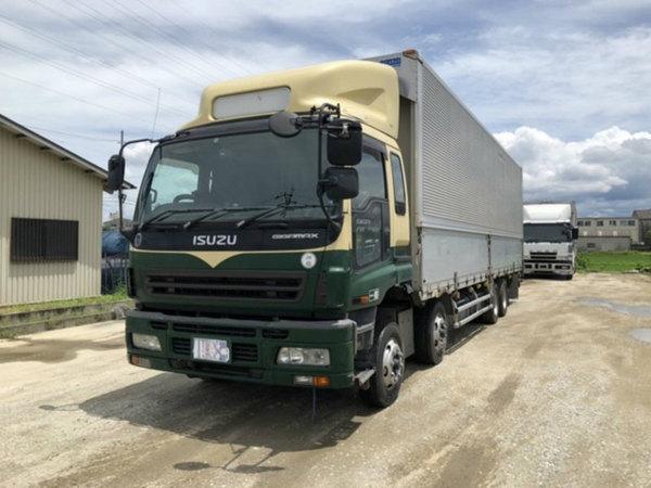 いすゞ ギガ低床アルミウイング 積載13.9t 7MT(グリーンツートン)